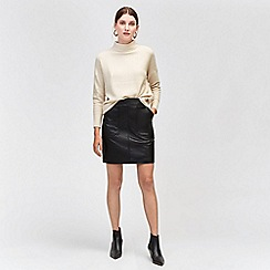 Warehouse - Pocket faux leather skirt