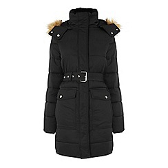 Warehouse - Long belted padded coat