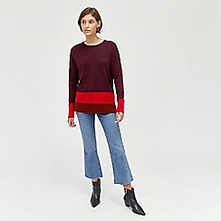 Warehouse - Colourblock longline jumper