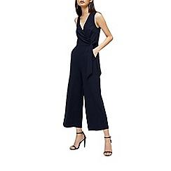 Warehouse - Wrap front crepe jumpsuit