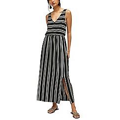 Warehouse - Stripe v neck maxi dress
