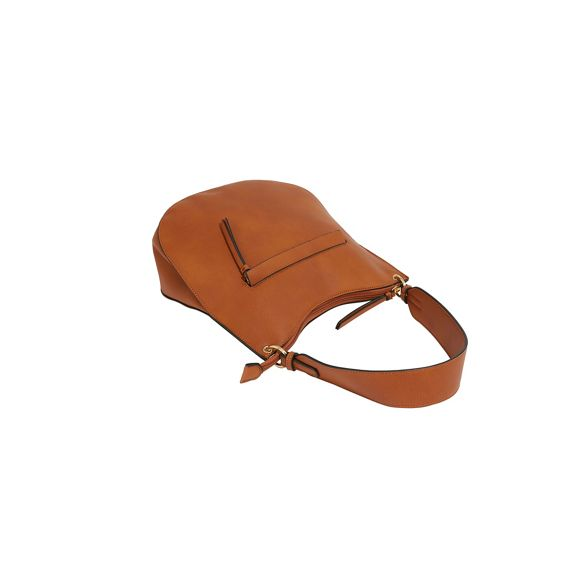 Warehouse Tan zip front strap bag wide FvYxSvRq