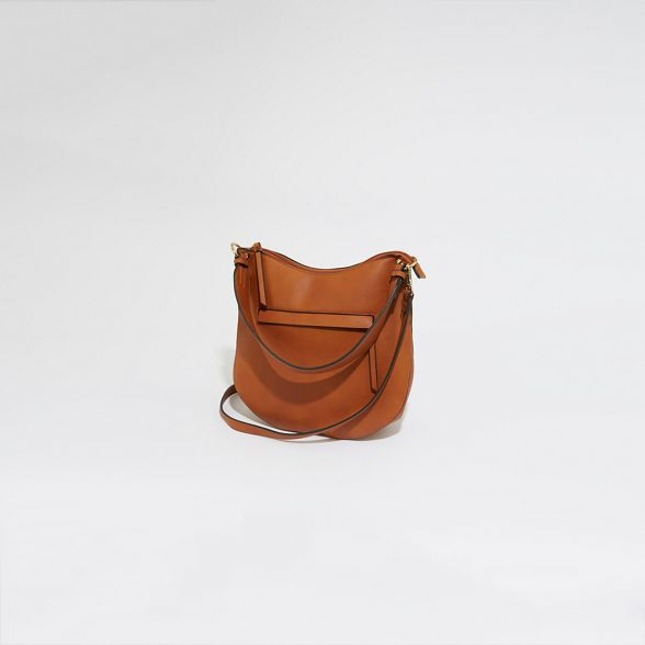 Tan zip front Warehouse strap wide bag dnpqqPtvx