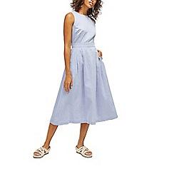 Warehouse - Chambray tie back midi dress