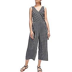 Warehouse - Multicoloured v neck stripe jumpsuit