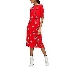 Warehouse - Fan floral midi dress