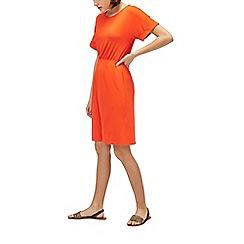 Warehouse - Turnback sleeve channel dress