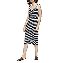 Warehouse - Stripe tie shoulder dress