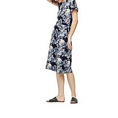 Warehouse - Crane print jersey midi dress