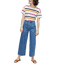 Warehouse - Rainbow stripe casual fit t-shirt