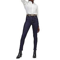 Warehouse - Dark blue powerhold skinny jeans