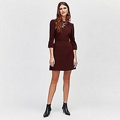 Warehouse - Puff sleeves crepe dress