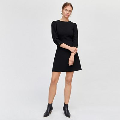 Warehouse   Puff Sleeves Crepe Dress by Warehouse