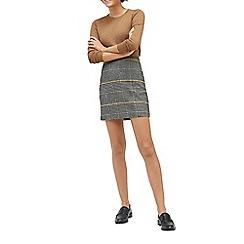 Warehouse - Honey houndstooth pelmet skirt