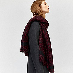 Warehouse - Leopard print blanket scarf