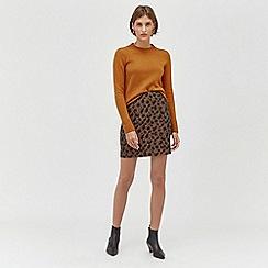 Warehouse - Animal jacquard pelmet skirt
