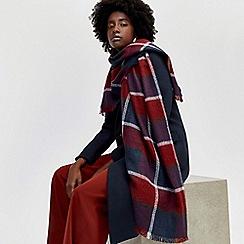 Warehouse - Multi check blanket scarf