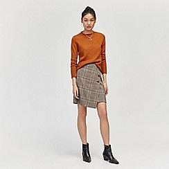 Warehouse - Honey check pelmet skirt