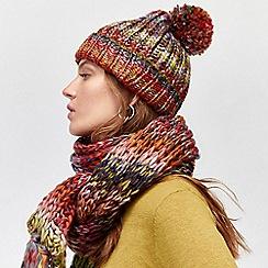 Warehouse - Multi chunky knit hat