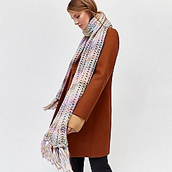 Warehouse - Pastel chunky knit scarf