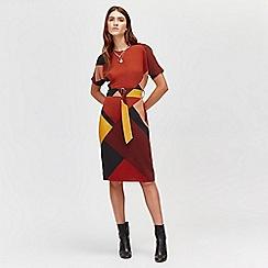 Warehouse - Geo print dress