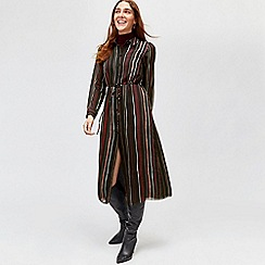 Warehouse - Drawn stripe chiffon dress