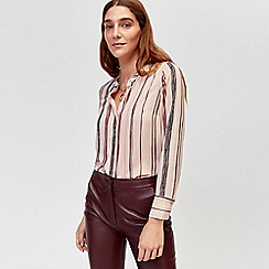 Warehouse - Stripe button side blouse