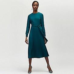 Warehouse - Pleated midi dress