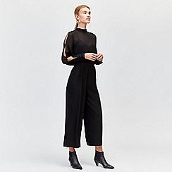 Warehouse - Chiffon sleeve jumpsuit