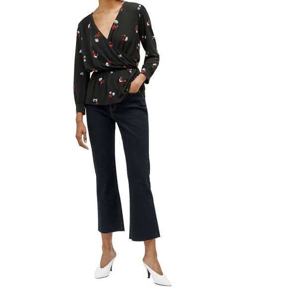 Warehouse Honey Warehouse floral top wrap Honey rdYrPwqpn6