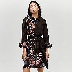 Warehouse - Cut about paisley shirt dress