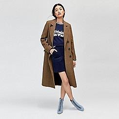 Warehouse - Full length check coat