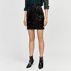 Warehouse - Velvet sequin mini skirt