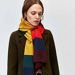 Warehouse - Rainbow stripe scarf