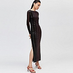 Warehouse - Ombre velvet maxi dress