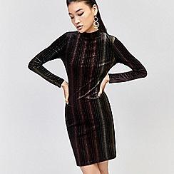 Warehouse - Ombre velvet bodycon dress