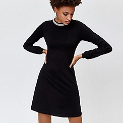 Warehouse - Bead embellished neck dress