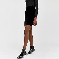 Warehouse - Velvet pelmet skirt