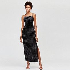 Warehouse - Velvet embellished maxi dress