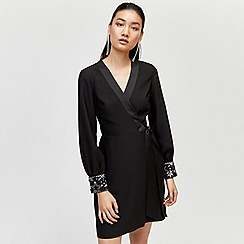 Warehouse - Star embellished cuff dress
