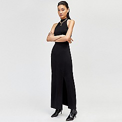 Warehouse - High neck slinky maxi dress