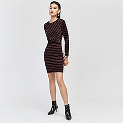 Warehouse - Fine metallic stripe dress