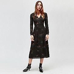 Warehouse - Cloud 9 printed midi dress