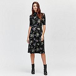 Warehouse - Brushed bloom midi dress