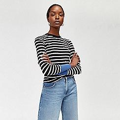 Warehouse - Star embroidered stripe jumper