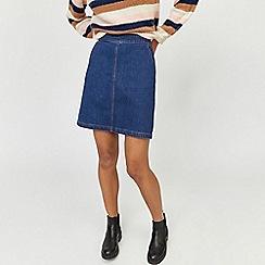 Warehouse - Denim A-line skirt