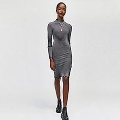 Warehouse - Stripe rib midi dress