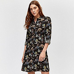 Warehouse - Landscape mini shirt dress