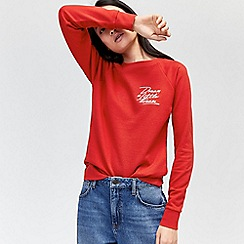 Warehouse - Dream embroidered sweatshirt
