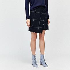 Warehouse - Windowpane check skirt